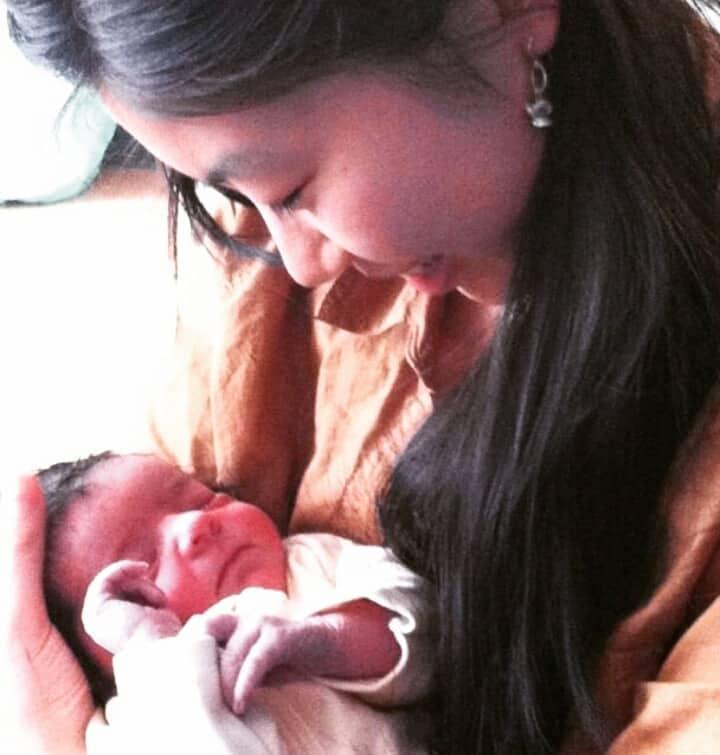 midwife Anna with newborn