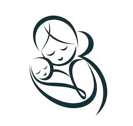 icon of a mum cuddling baby