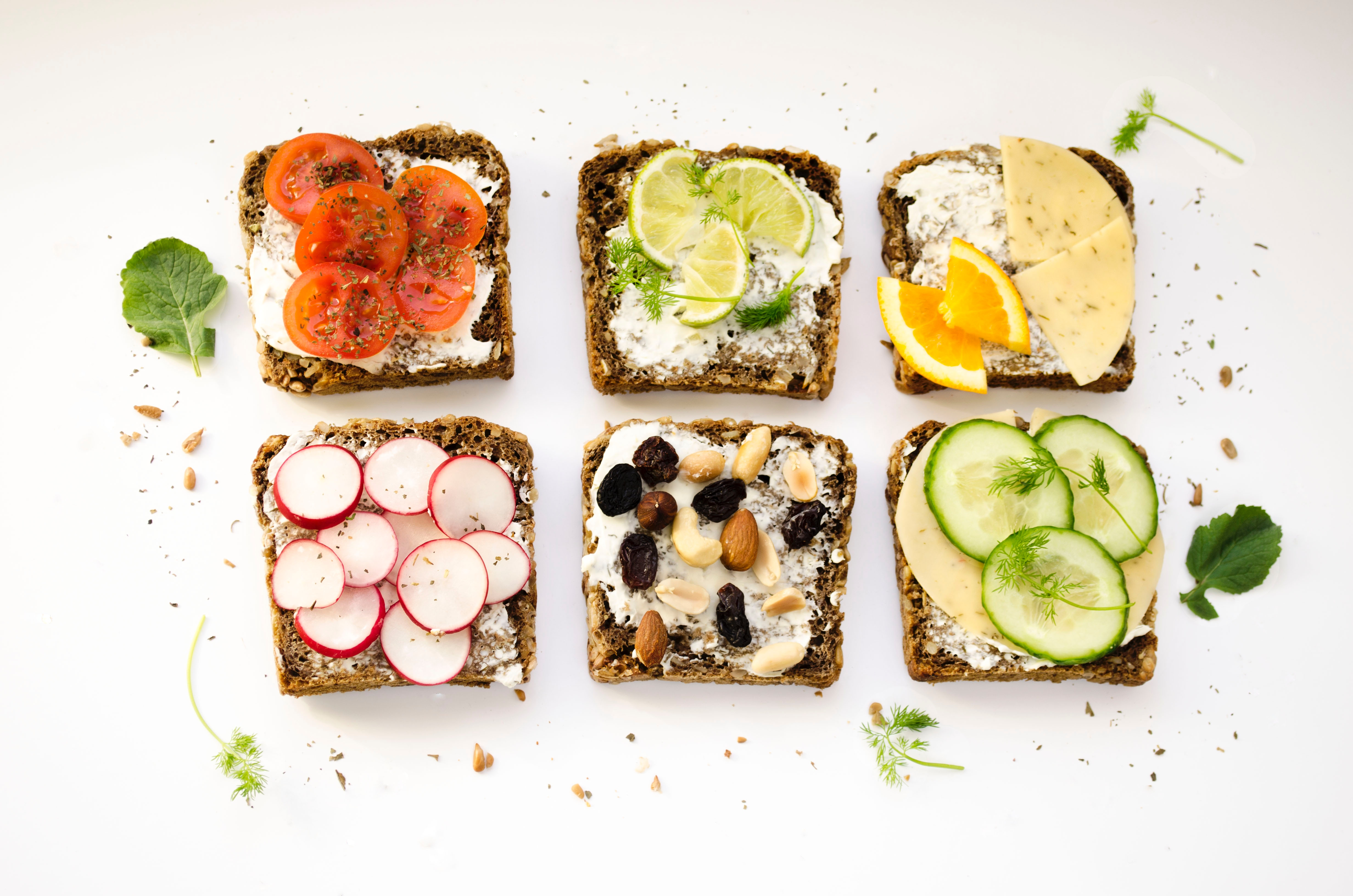 Toast with healthy toppings