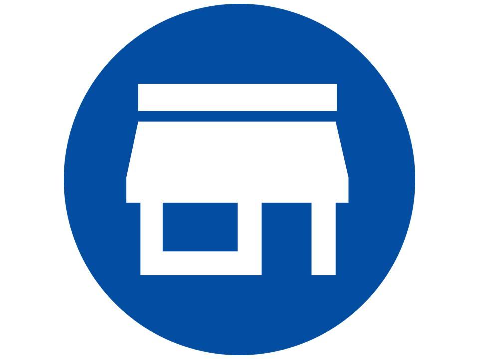 icon of shop describing midwifery as the one stop shop for women