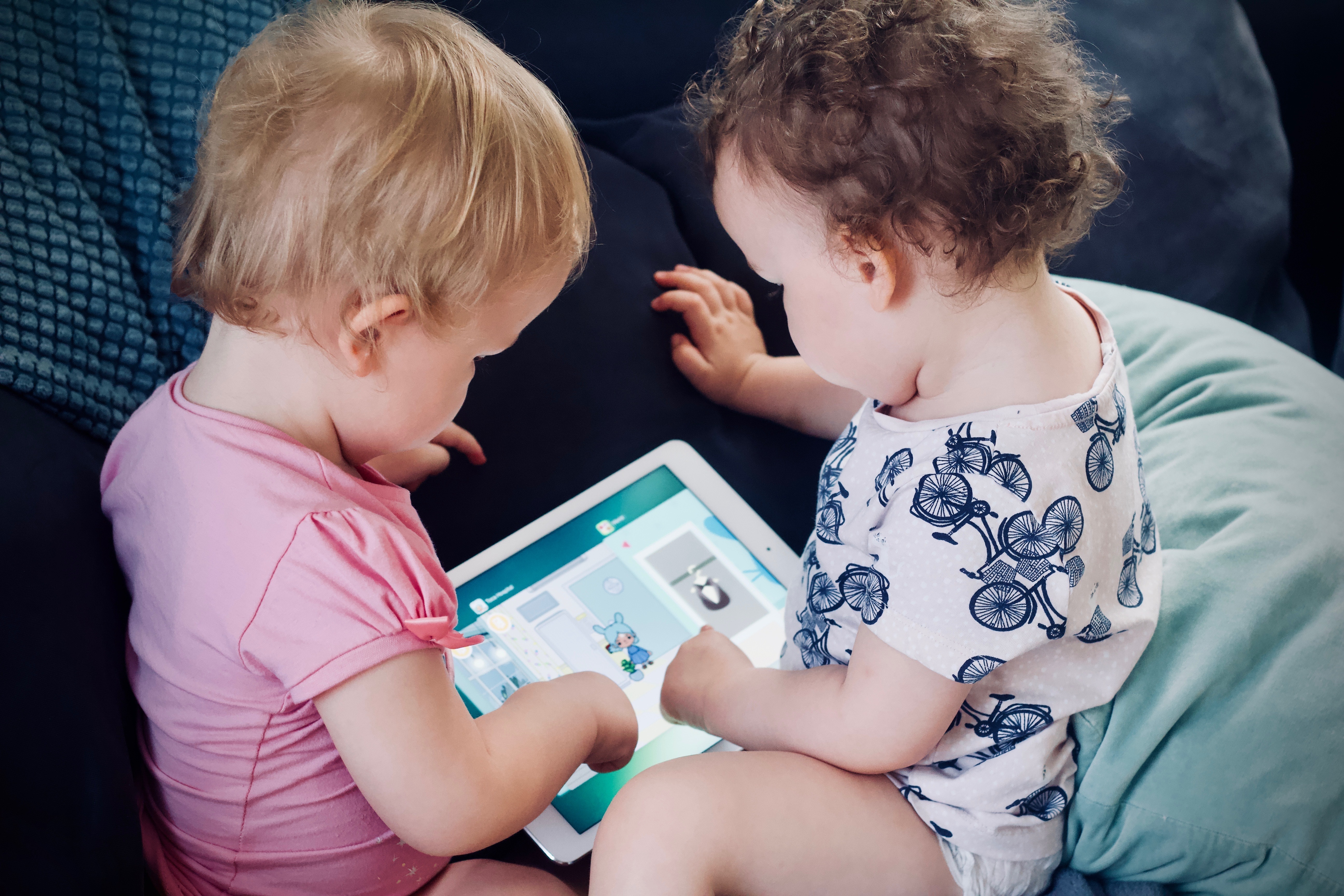 Babies using technology