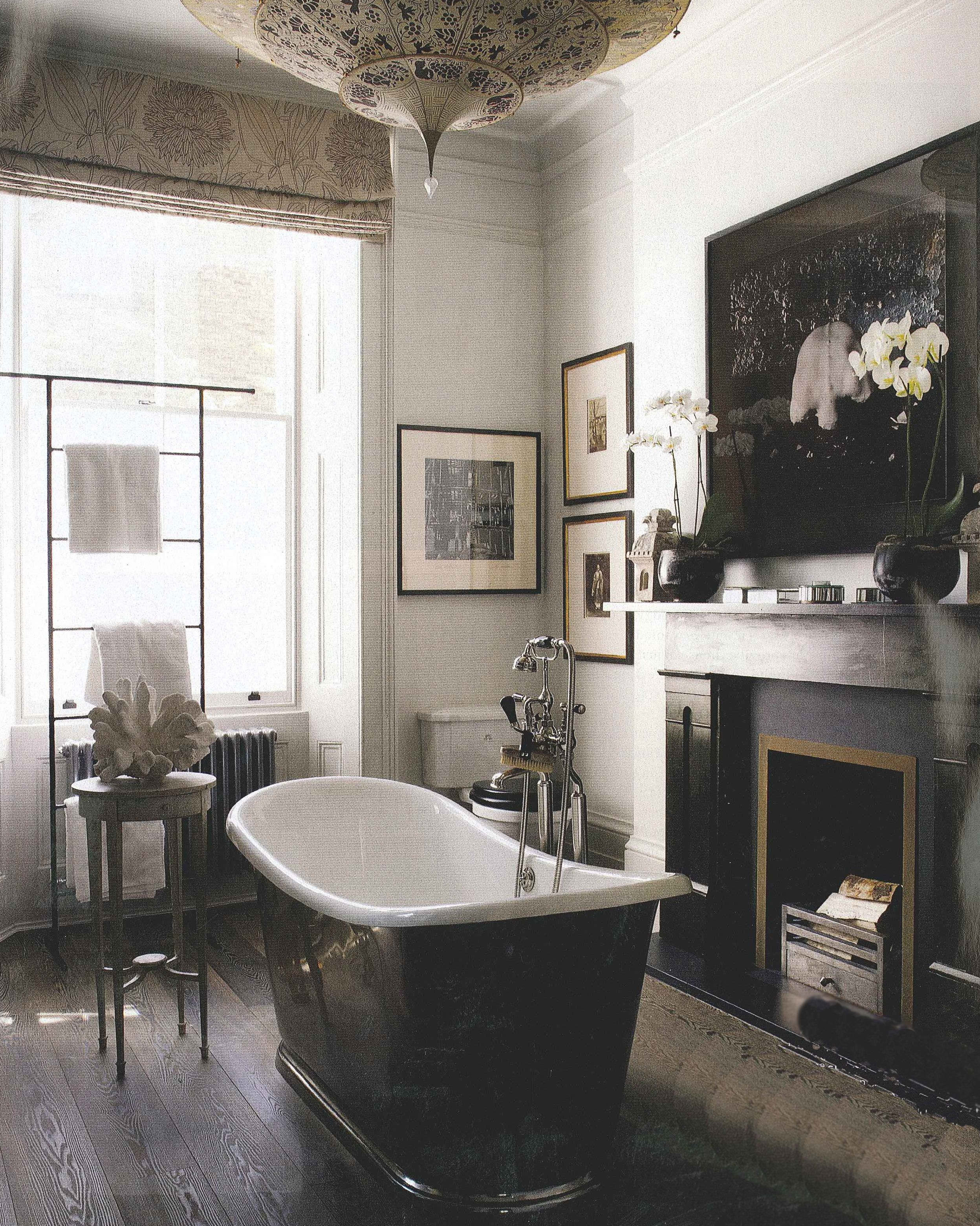 photograph of a vintage tub in a bathroom