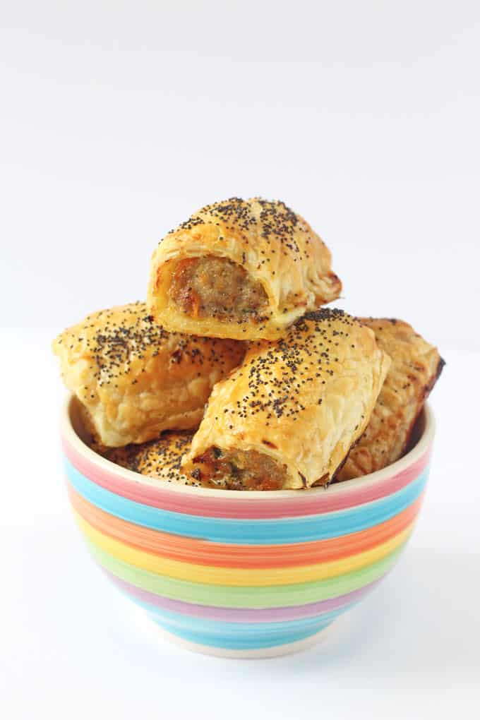 Kids Healthy Sausage Rolls with Vegetables Lunch Box recipes and ideas for Fussy Easters