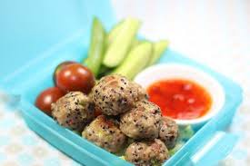 Kids Healthy meatballs with Vegetables Lunch Box recipes and ideas for Fussy Easters
