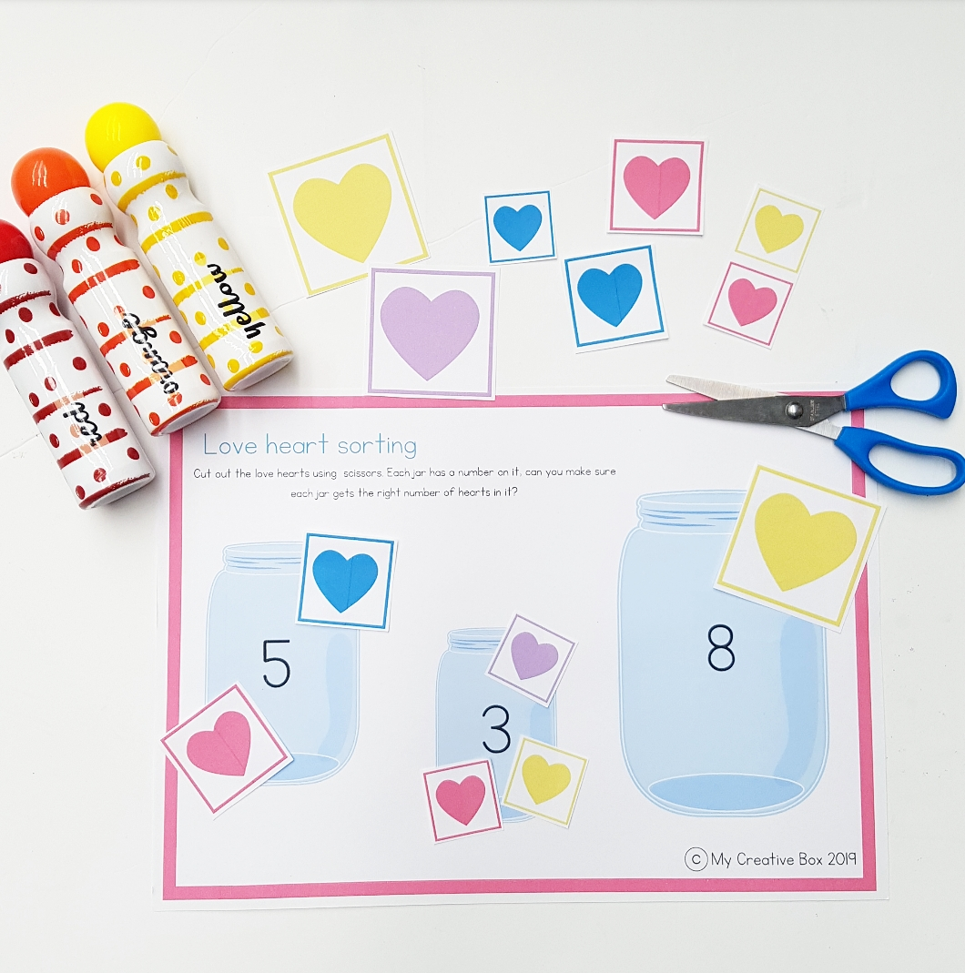 kids free printables valentines day early learning maths activity free
