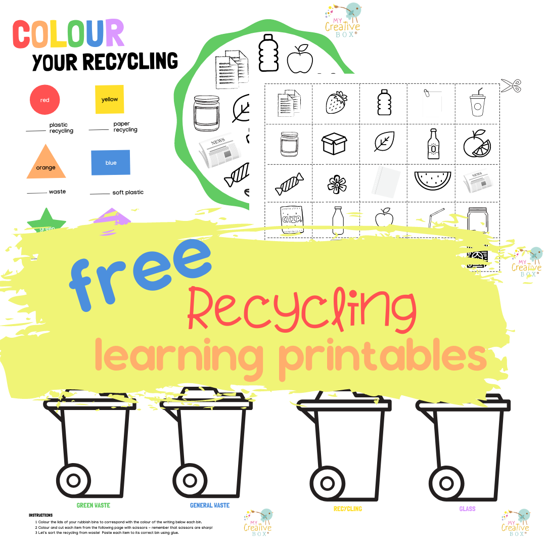 Free Recycling Learning Printables