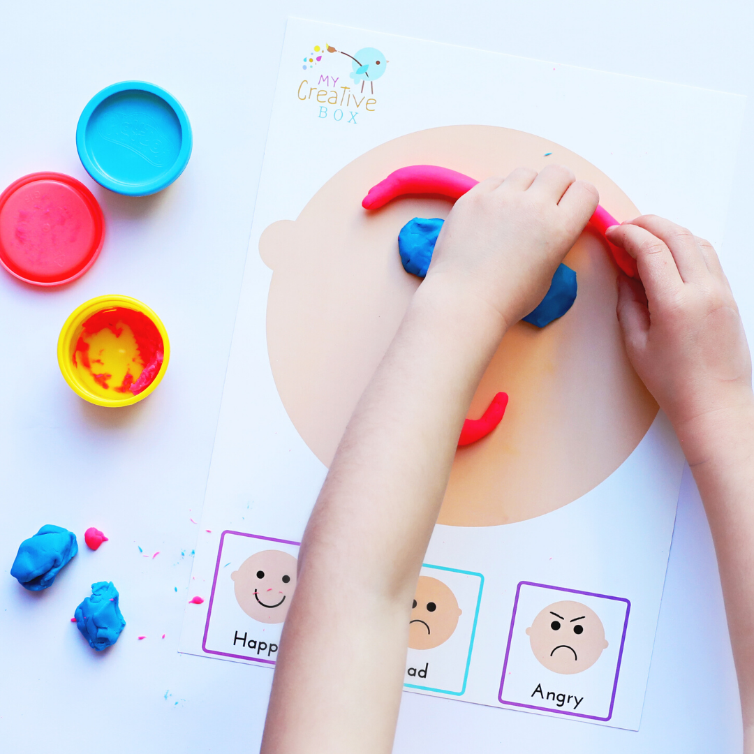 FREE KIDS EMOTIONS PLAY DOUGH PRINTABLE DOWNLOAD KEEP KIDS BUSY INDOORS