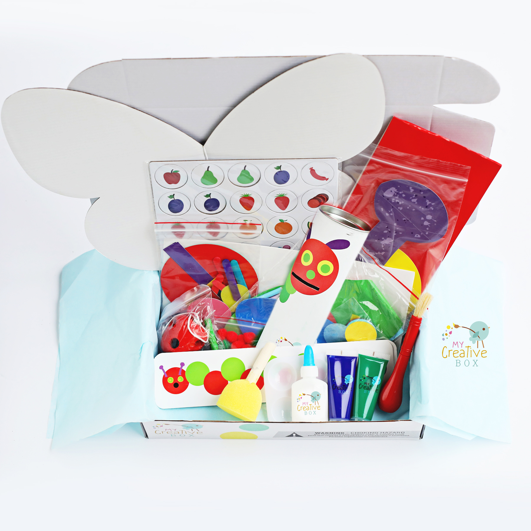 vERY HUNGRY CATERPILLAR KIDS UNBOXING KIDS SUBSCRIPTION STEAM, SCIENCE AND ART AND CRAFT ACTIVITIES BOOK WEEK