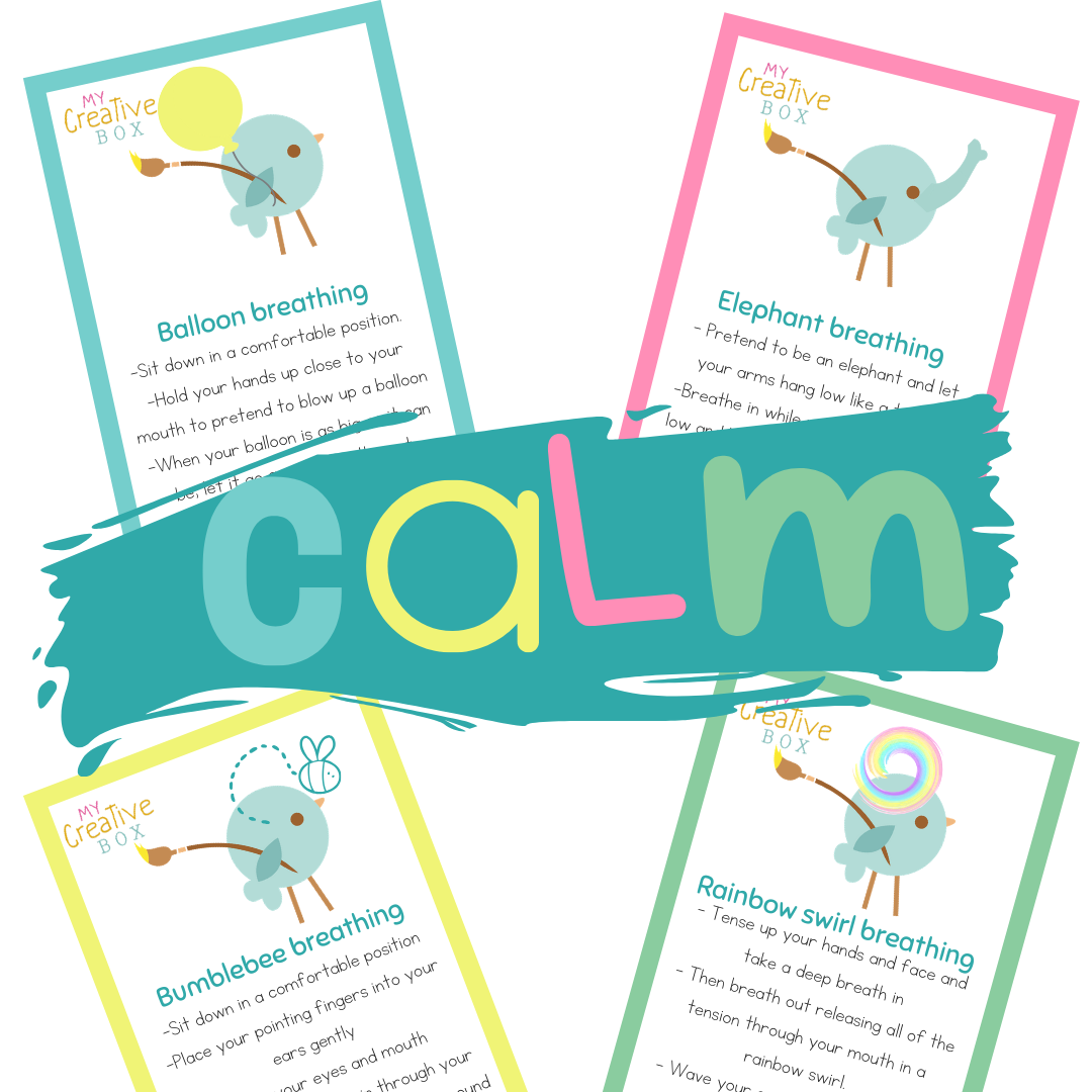 Kids free calm breathing cards for anxiety and helping children through coronavirus social isolation