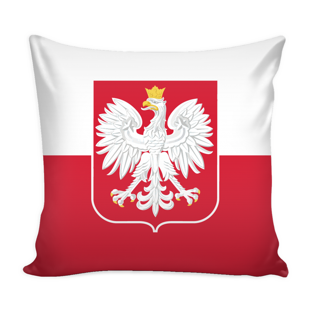 Polish Flag Pillow Cover with Insert