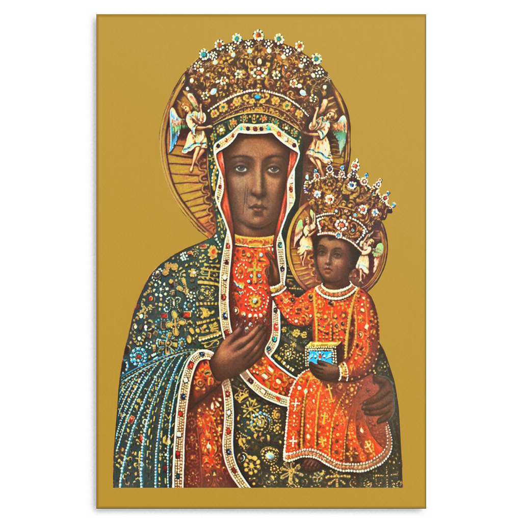 Black Madonna of Czestochowa Canvas