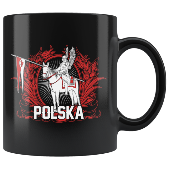 Hussar Warrior Black 11oz Mug