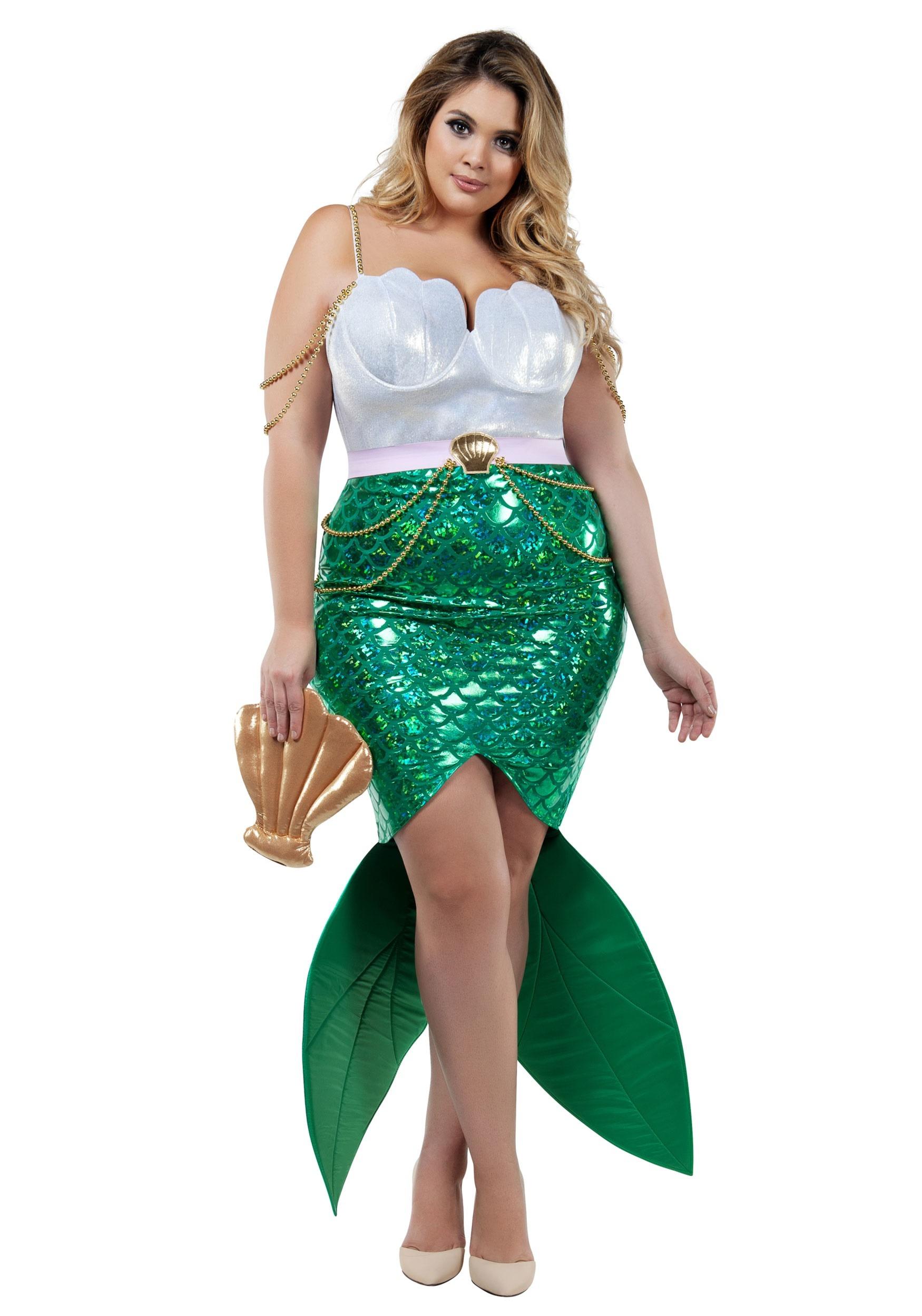 Plus Alluring Sea Siren Costume