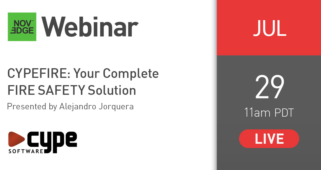 NOVEDGE Webinar : CYPEFIRE Your Complete FIRE SAFETY Solution
