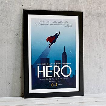 Personalised 'Superdad' Movie Poster Print