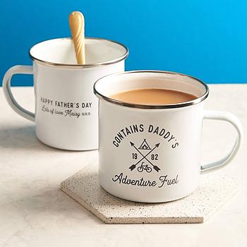 Personalised Adventure Fuel Enamel Mug
