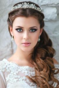 Tiara de novia en pedrería