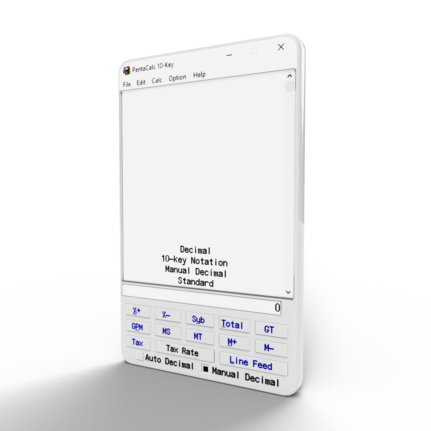 10 key calculator that is made by CPAs
