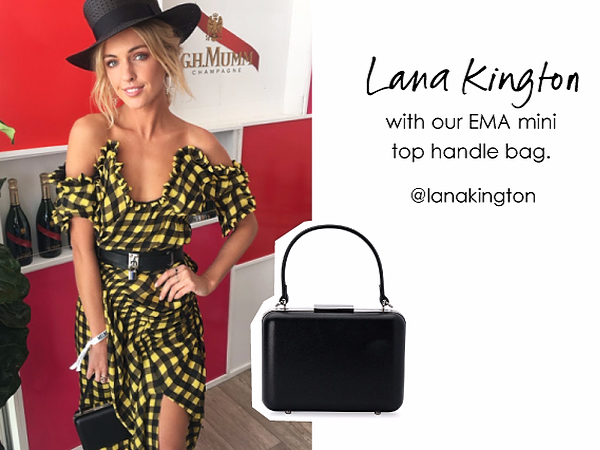 Lana Kington wearing our Ema handle bag