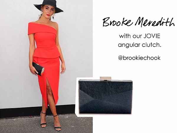 Brooke Meredith wearingour Jovie clutch