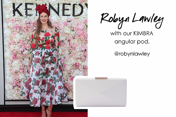 Robyn Lawley wearing our Kimbra pod in White