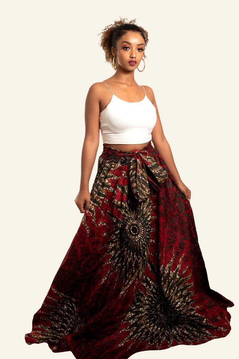 African Print Gbono Maxi Skirt