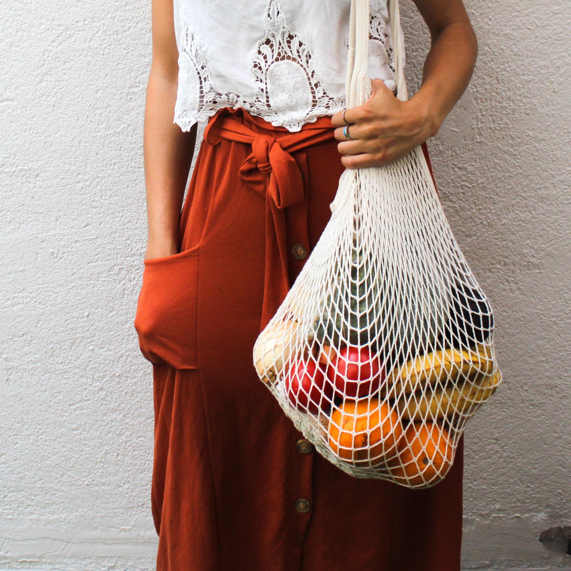 bolsa de malla para la compra