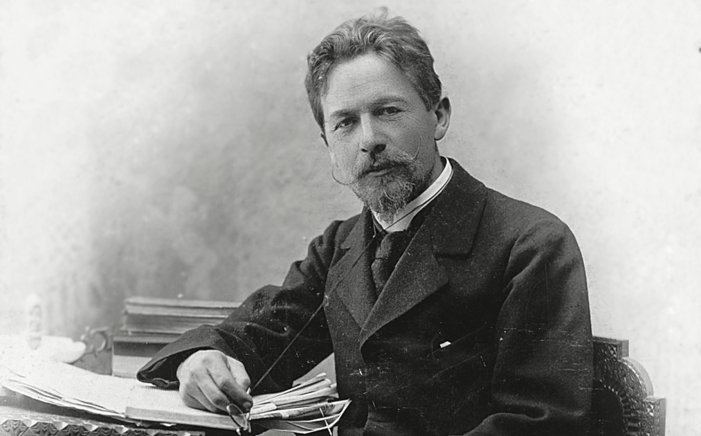 Portrait of Anton Chekhov at a desk