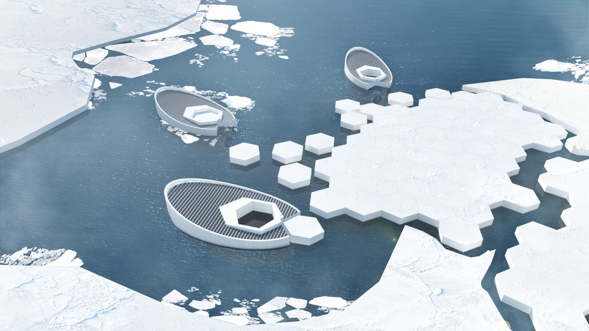concept design of iceberg making boats