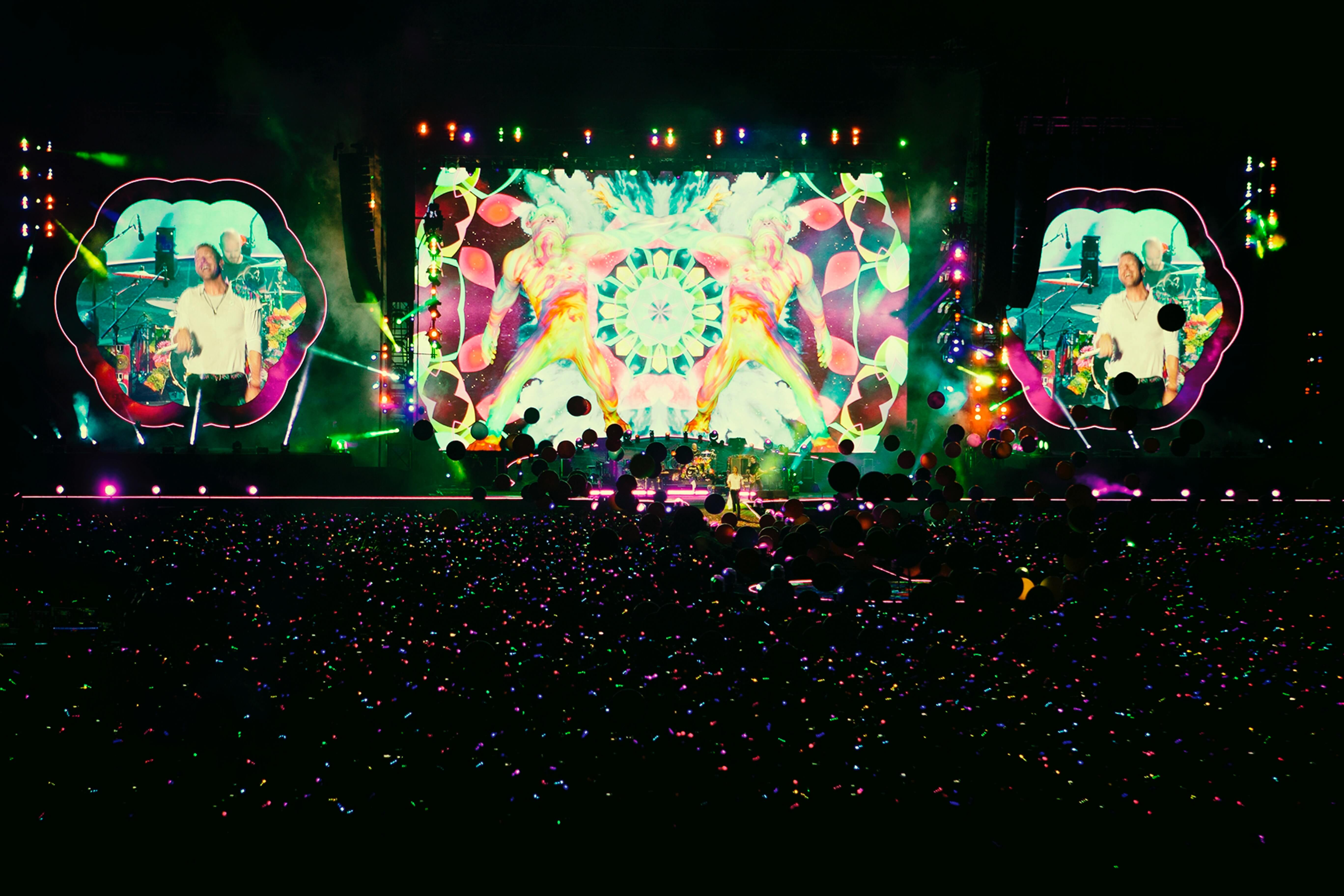 stage at a Coldplay concert
