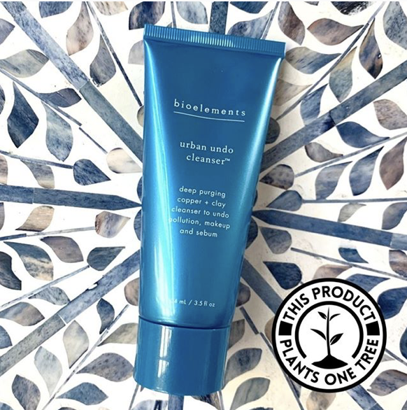 Blue bottle of Bioelements face wash
