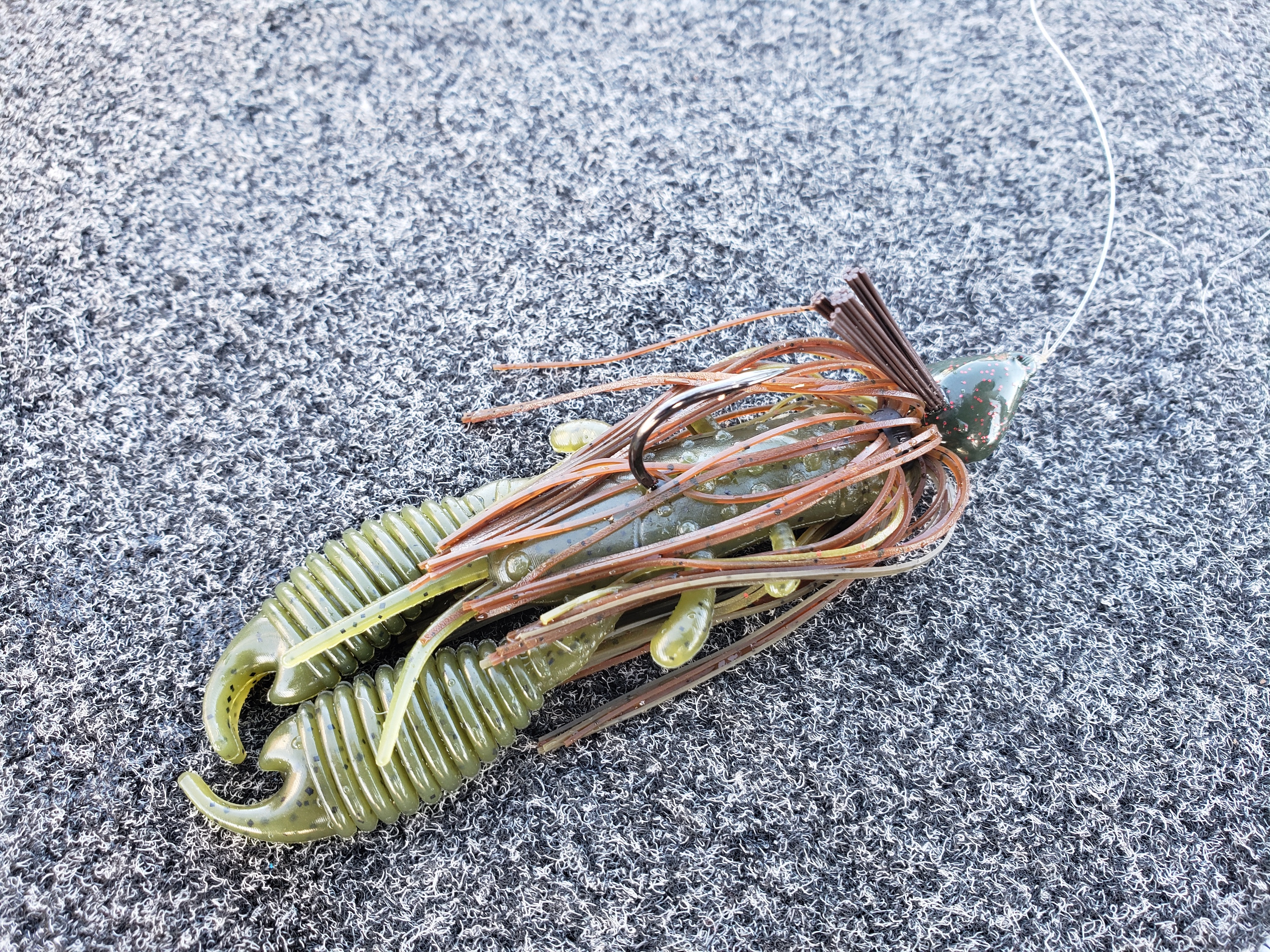 soft plastic crawfish used for bass fishing