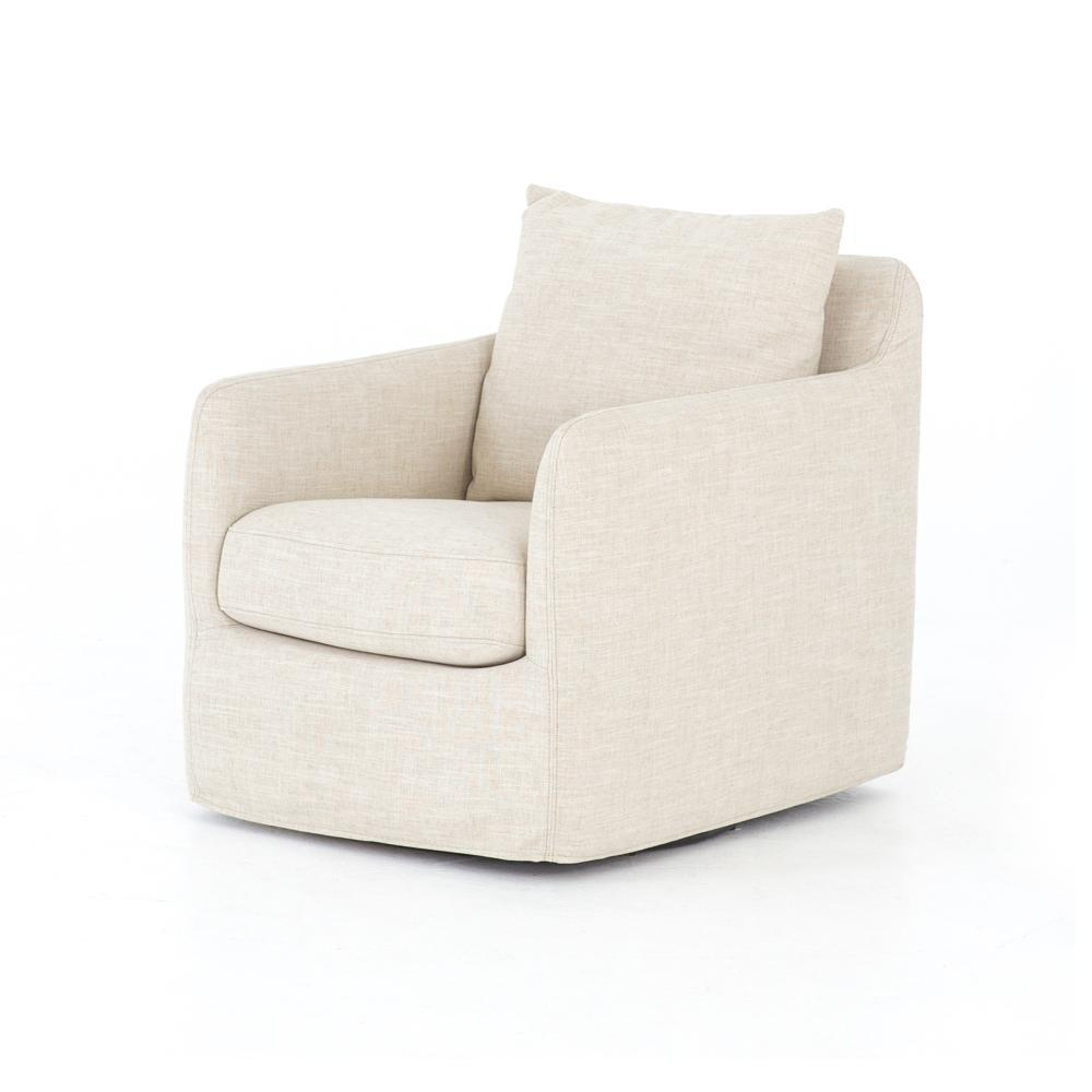 Banks Swivel Chair - Ivory