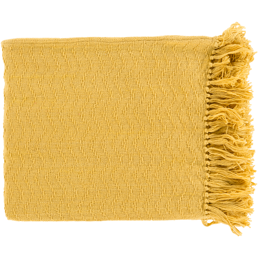 YELLOW THROW BLANKET