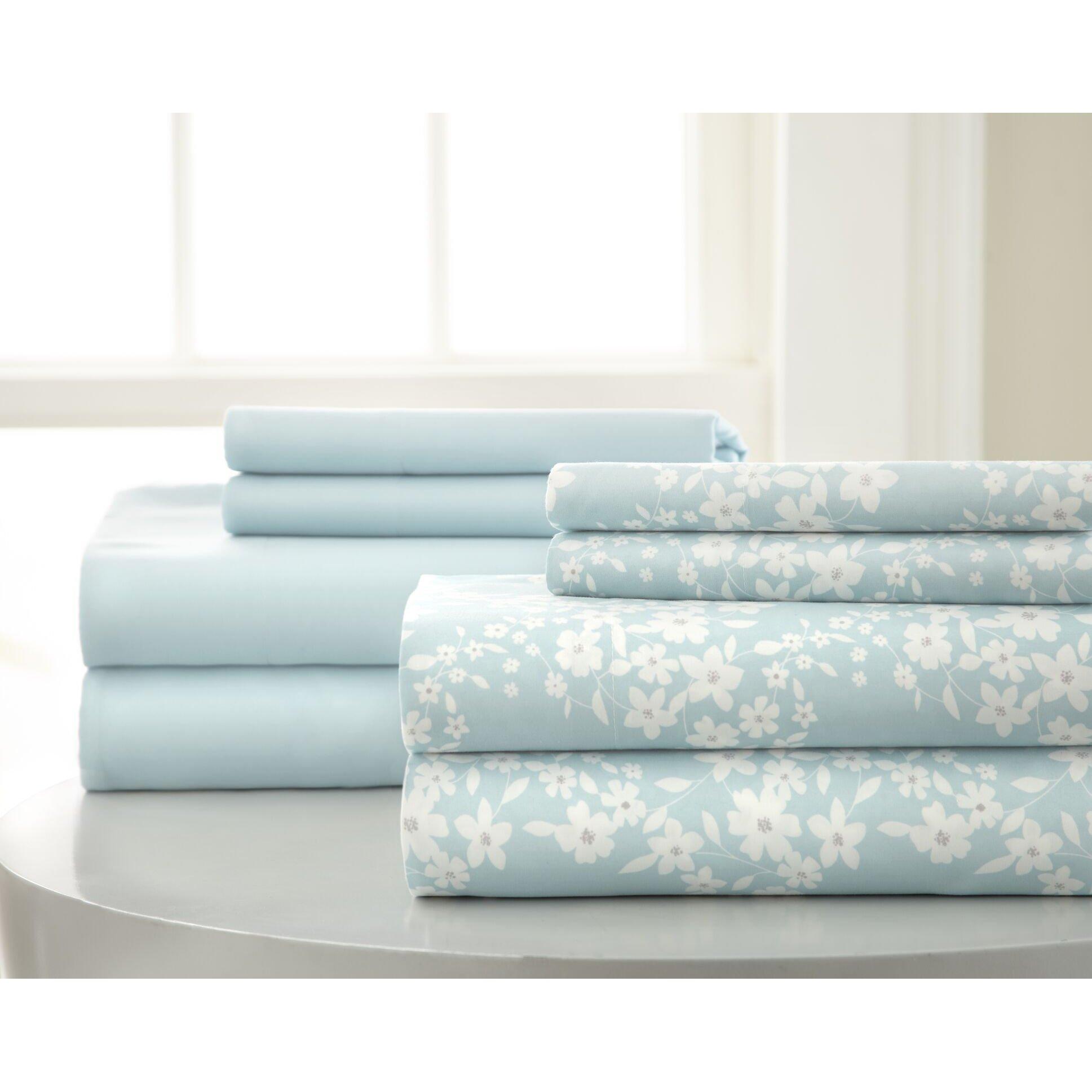 Floral Blue Sheets