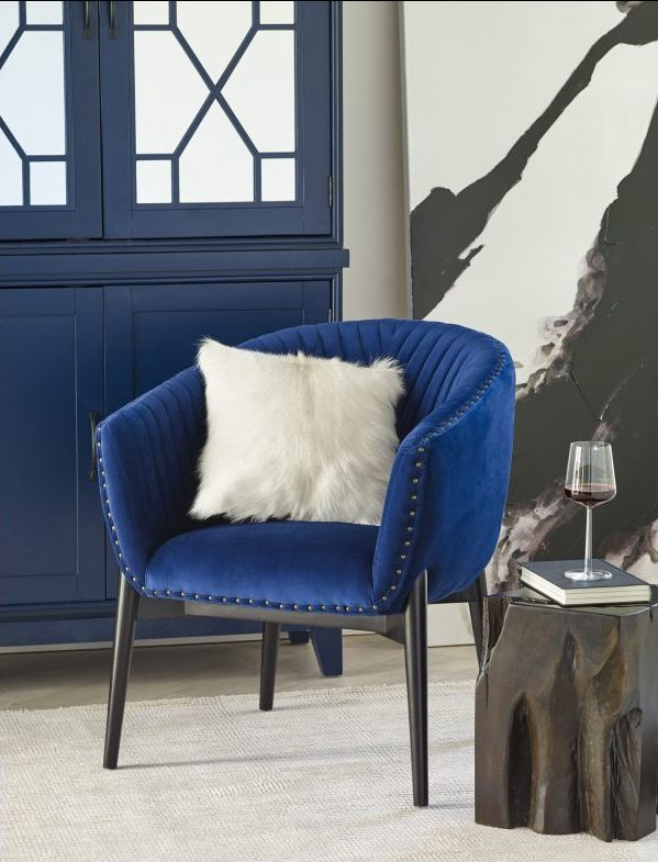 Kismet Tub Chair Blue Velvet