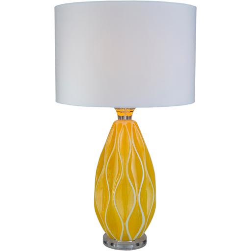 Bethany Ceramic Table Lamp - Yellow