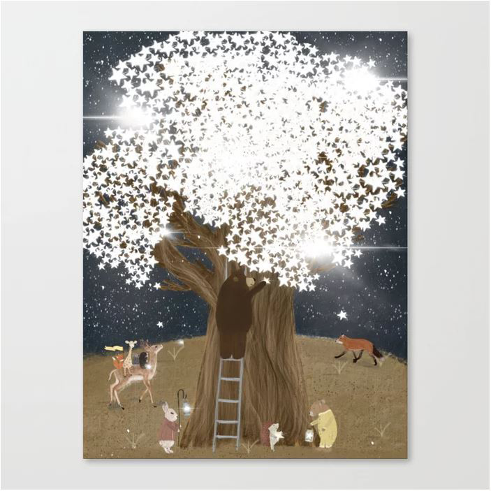 the starlight tree Canvas Print by bri.buckley