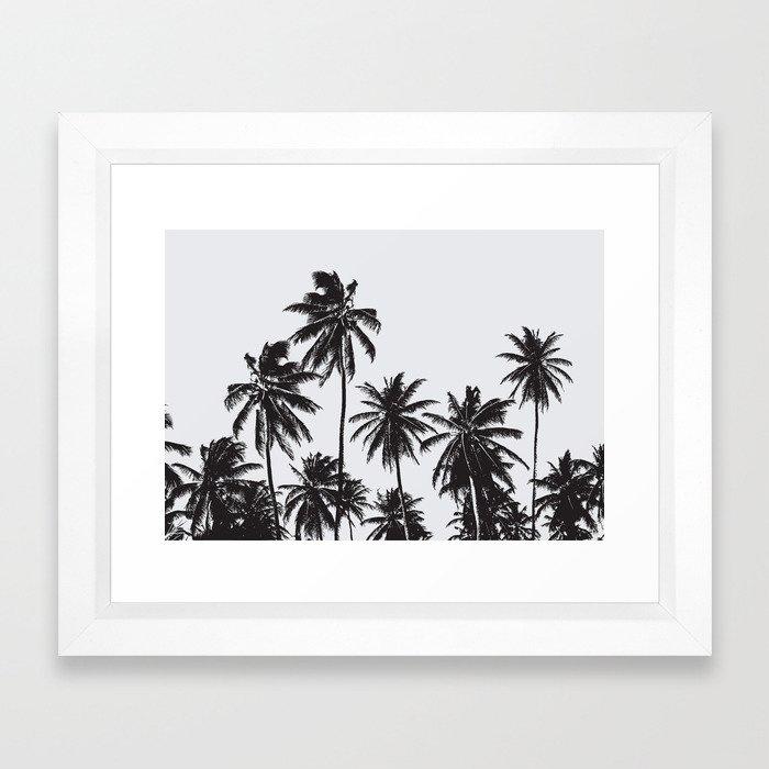 Palm 05 Framed Art Print by The Old Art Studio