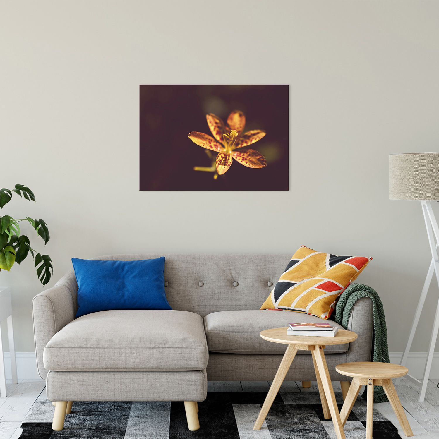 New - Floral Nature Photography - Dramatic Orange Leopard Lily Flower Wall Art Prints Unframed and Fine Art Canvas Prints