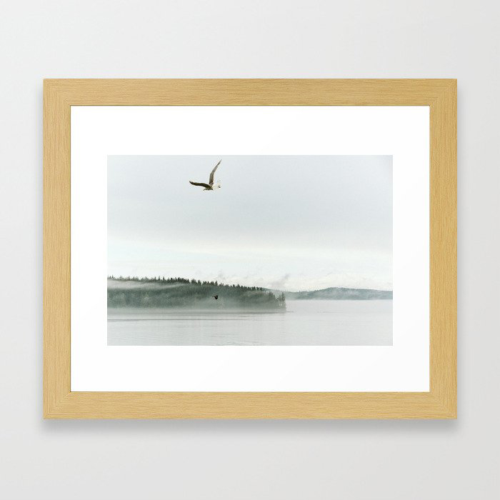 rain coast Framed Art Print by Kimberley Kufaas