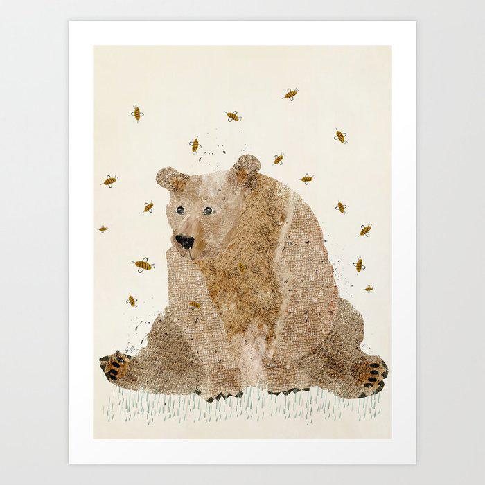 bear grizzly Art Print by bri.buckley