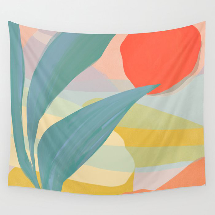 Shapes and Layers no.33 Wall Tapestry by Sewzinski
