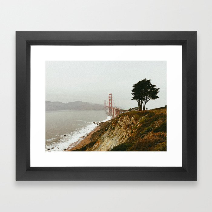 Golden Gate Bridge / San Francisco, California Framed Art Print by Somewhere With Her