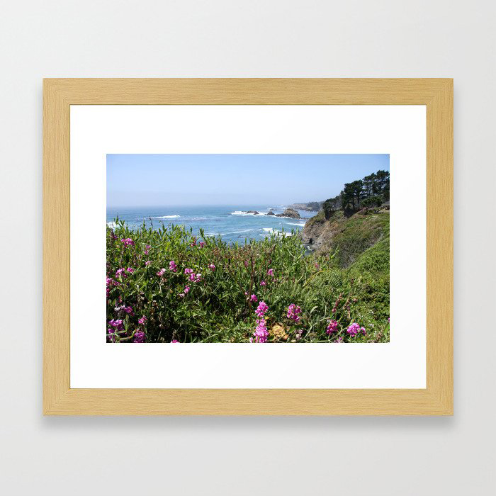 Beautiful North California Coast Framed Art Print by Christiane W. Schulze Art and Photograph