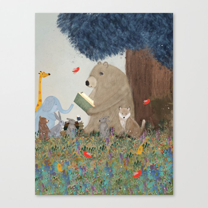 once upon a time Canvas Print by bri.buckley