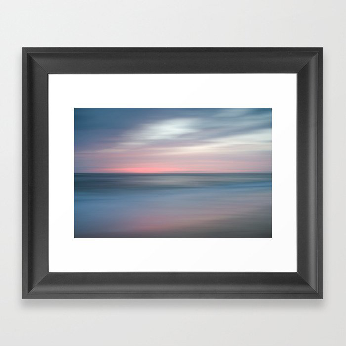 The Colors Of Evening On The Beach - Coastal Abstract Landscape Photograph Framed Art Print by PIPA Wall Art & Home Decor