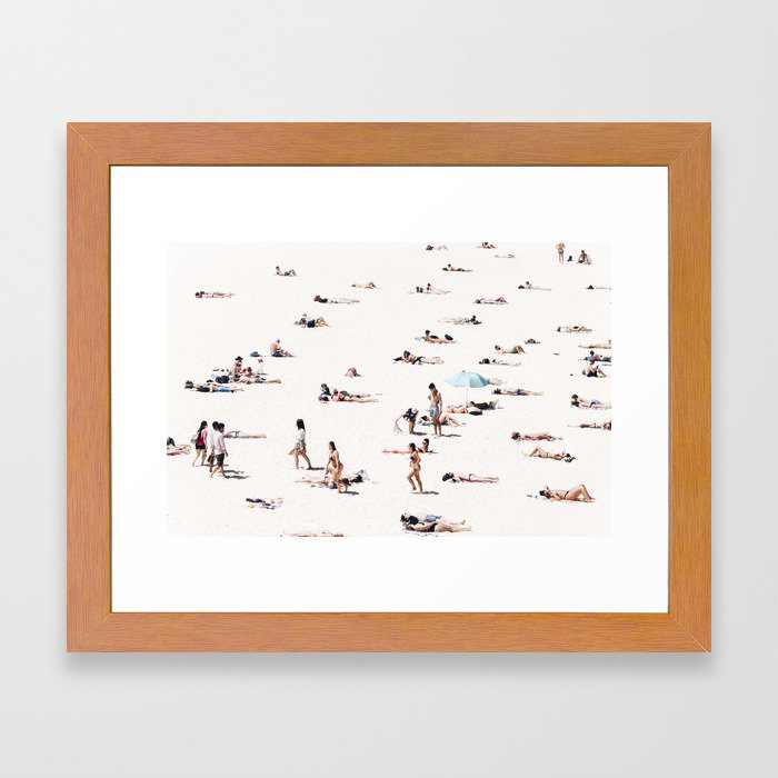 BONDI BEACH BUMS Framed Art Print by Christian Seidenberg Photography