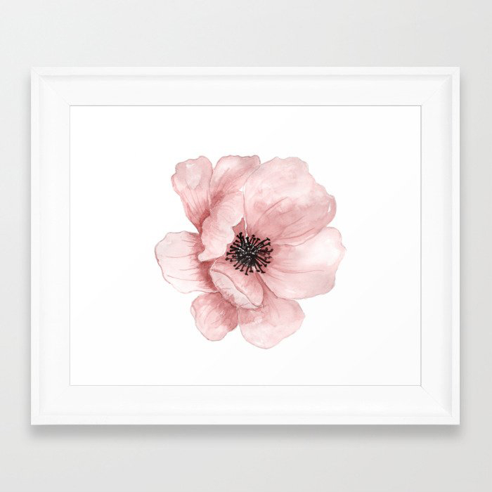 Flower 21 Art Framed Art Print by Hovo