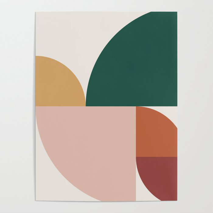 Abstract Geometric 11 Poster by The Old Art Studio